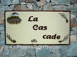 HOUSE PLAQUE RECTANGLE MODEL TEXT RED COLOR PROVENCAL DECOR