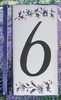 HOME ADDRESS NUMBERS (6) TO UNIT BLUE MOUSTIERS DECORATION