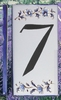 HOME ADDRESS NUMBERS (7) TO UNIT BLUE MOUSTIERS DECORATION