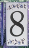 HOME ADDRESS NUMBERS (8) TO UNIT BLUE MOUSTIERS DECORATION