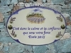 HOUSE PLAQUE OVAL MODEL LAVENDERS FIELDS (VERSES)
