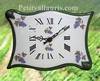 HORLOGE MODELE PARCHEMIN DECOR GRAPPE DE RAISIN