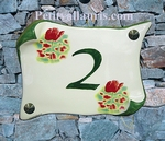 HOUSE PLAQUE PARCHMENT SMALL MODEL POPPIES DECORATION