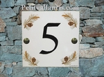HOME NUMBER PLAQUE SIZE 15 X 15 PIGNE PINE DECOR BLACK TEXT
