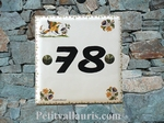 HOME NUMBER PLAQUE OLD MOUSTIERS TRADITION BLACKTEXT