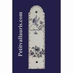 DEMI PLAQUE DECORATIVE MODELE LXV TRADITION MOUSTIERS BLEU