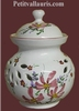 CERAMIC ONIONS POT PINK FLOWER COLOR DECORATION