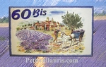 FRESCO HOUSE PLAQUE RECTANGLE MODEL LAVENDERS HARVEST DECOR