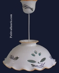 SUSPENSION CERAMIC WITH SPRING LAVANDER DECOR D33 CM
