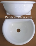 FAIENCE WALL BASIN HAND WASHING ENAMELLED WHITE COLOR SIZE 2