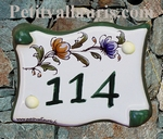 DOOR PLAQUE PARCHMENT MODEL WITH CUSTOMIZED NUMBER (POLY)