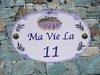 HOUSE PLAQUE OVAL MODEL FARMHOUSE & FIELDS OF LAVENDERS (2)