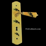 HANDLE & DOOR PLAQUE WITH LOCK (FIXING WITH SCREW)OLIVE DECO
