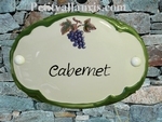 CUSTOMIZED OVAL DOOR PLAQUE GRAPE DECOR