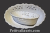 PERFORATE OVAL PANNIER WHITE COLOR ENAMELLED