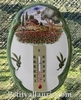 OVAL PLAQUE WITH THERMOMETER PROVENCE LANDSCAPE DECOR 2196