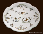 PLAT OVALE MODELE LOUIS XV CREUX DECOR TRADITION V MOUSTIERS