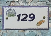 HOUSE PLAQUE BOUQUET LAVENDER AND MIMOSAS BRANCH DECORATION
