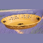 FAIENCE OVALE PERFORATE BASKET PROVENCAL COLOR
