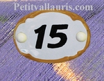 OVAL DOOR PLAQUE WITH BLACK CUSTOMIZED NUMBER