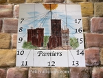 CUSTOMIZED CERAMC SUNDIAL WALL PLAQUE PAMIERS TOWER DECOR