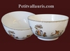 SALAD BOWL LARGE SIZE OLD MOUSTIERS TRADITION DECORATION