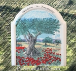 FRESCO MOULURE MODEL OLIVE-TREE PAINT CUSTOMIZED INSCRIPTION