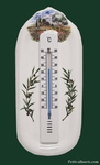 THERMOMETER WITH MURAL SUPPORT OLIVE-TREE PROVENCE DECOR