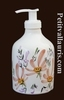LIQUID SOAP DISPENSER SALMON FLOWER DECORATION