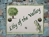 CERAMIC ENAMELLED HOUSE PLAQUE LILY OF THE VALLEY  PICTURE