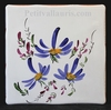 TILE DECORATION BLUE FLOWERS