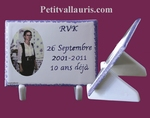 FUNERARY PLAQUE TO PUT WITH CUSTOMIZED TEXT AND PHOTO COLOR