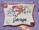 PARCHMENT DOOR PLAQUE PINK FLOWERS
