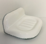 WALL MODEL CARRY SOAP WHITE COLOR ENAMELLED BORDER GREY