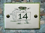 CERAMIC ENAMELLED HOUSE PLAQUE LAMB-SHEEP PICTURE