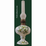 OIL LAMP (ELECTRIC MODEL) GREEN FLOWER DECORATION