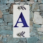 HOME ADDRESS PLATE LETTER (A) TO UNIT LAVENDERS DECORATION