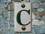 HOME ADDRESS PLATE WITH CUSTOMIZED GREEN LETTER