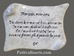 FUNERARY WALL PARCHMENT PLAQUE CERAMIC GREY COLOR