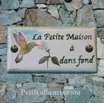 CERAMIC HOME PLAQUE WITH COLIBRI DECORATION