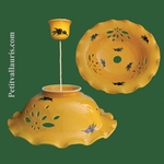 CERAMIC SUSPENSION PROVENCAL COLOR AND DECOR DIAMETER 37 CM