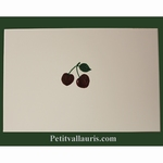CUSTOMIZED CHERRIES DECOR ON LARDGE TILES