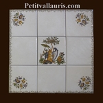 FRESQUE SUR CARRELAGE DECOR TRADITION VIEUX MOUSTIERS 30 CM
