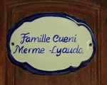 OVAL DOOR PLAQUE WITH CUSTOMIZED TEXT BLUE COLOR