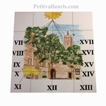 CERAMC SUNDIAL WALL PLAQUE SOUTH FRANCE VILLAGE DECOR