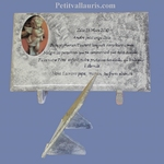 FUNERARY PLAQUE CERAMIC GREY COLOR WITH ANGEL PICTURE