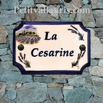 HOUSE PLAQUE WITH LAVENDERS AND HOUSE DECORATION