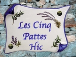 HOUSE PLAQUE PARCHMENT SMALL OLIVES & LAVENDERS BRANCH