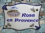 HOUSE PLAQUE PARCHMENT FARMHOUSE & FIELDS OF LAVENDERS DECOR