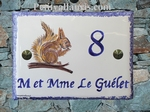 CERAMIC HOUSE ADDRESS PLAQUE MODEL SQUIRREL DECOR PAINT